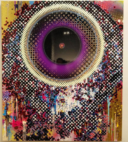 Takashi Murakami at Perrotin, via Art Observed