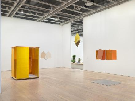 Hélio Oiticica, To Organize Delirium (Installation View, Whitney Museum of American Art, New York, July 14–October 1, 2017). From left to right: PN1 Penetrable (PN1 Penetrável), 1960; P34 White Painting (P34 Série branca), 1959; Untitled, ca. 1960; NC1 Small Nucleus 1 (NC1 Núcleo pequeno 1), 1960. Photograph by Ron Amstutz