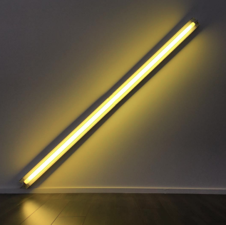 Dan Flavin at David Zwirner, via Art Observed