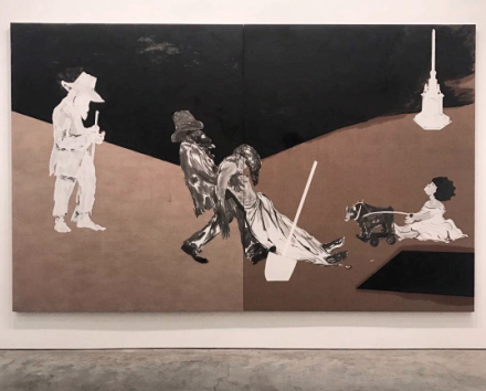 Kara Walker, The (Private) Memorial Garden of Grandison Harris (2017), via Art Observed