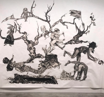 Kara Walker, U.S.A. Idioms (2017), via Art Observed