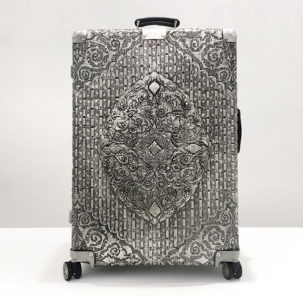 Wim Delvoye, Rimowa Classic Flight Multiwheel 971.00.00.4 (2013), via Art Observed