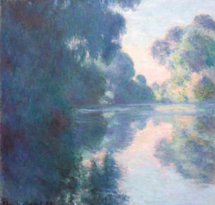 Claude Monet, Matinée sur la Seine (1897), via Christies