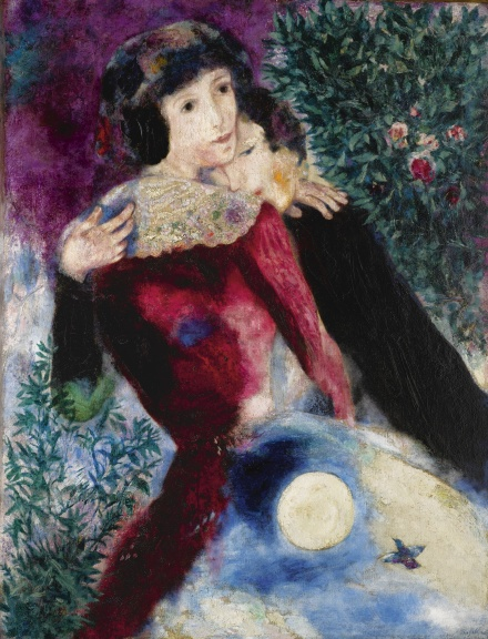 Marc Chagall, Les Amoureaux (1928), final price 28,453,000, via Sotheby's