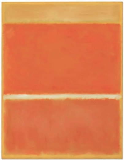 Mark Rothko, Saffron (1957), final price 32,375,000, via Christie's