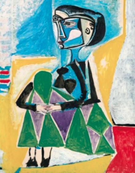 Pablo Picasso, Femme accroupie (Jacqueline) (1954), via Christie's