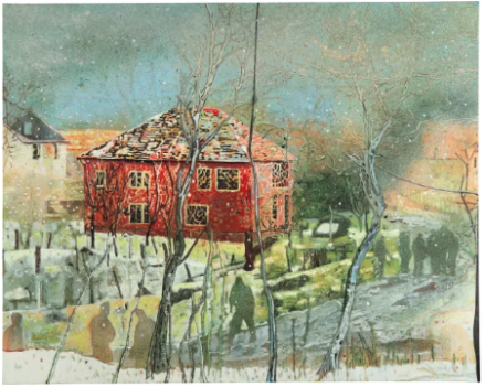 Peter Doig, Red House (1996), via Phillips