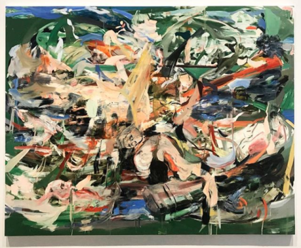 Cecily Brown, A Day! Help! Help! Another Day! (Installation View), via Art Observed.