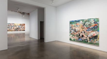 Cecily Brown, A Day! Help! Help! Another Day! (Installation View), via Paula Cooper