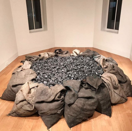 Jannis Kounellis at Luxembourg and Dayan, via Art Observed