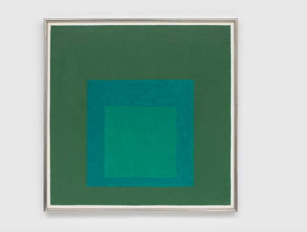 Josef Albers, Study for Homage to the Square (1964), via David Zwirner