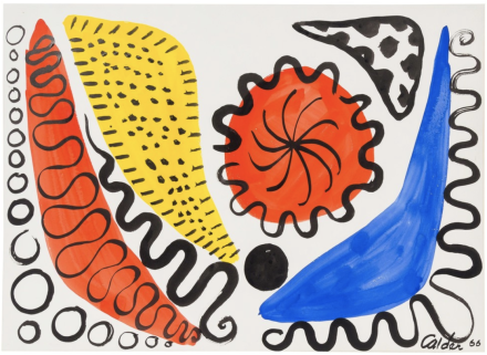 Alexander Calder, Boomerangs and Calderunes (1966), via Opera