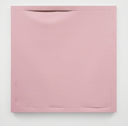 Angela De La Cruz, Backgrounds (light pink) (2018), via CarrerasMugica