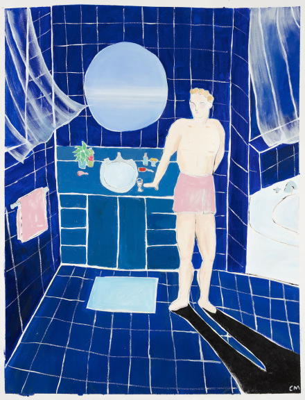 Claire Milbrath, Phthalo Blue Dream (2018), via Steve Turner