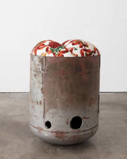 Elad Lassry, Untitled (Pod, Holiday Peppers and Bows, 2) (2018), via 303 Gallery
