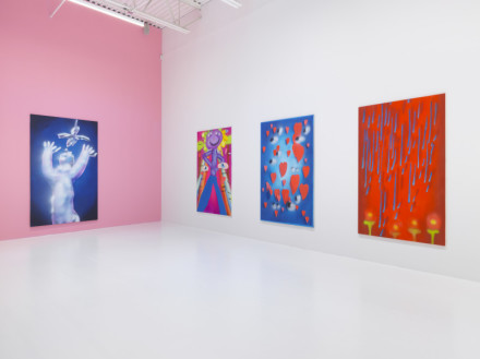 Austin Lee, Feels Good (Installation View), via Jeffrey Deitch