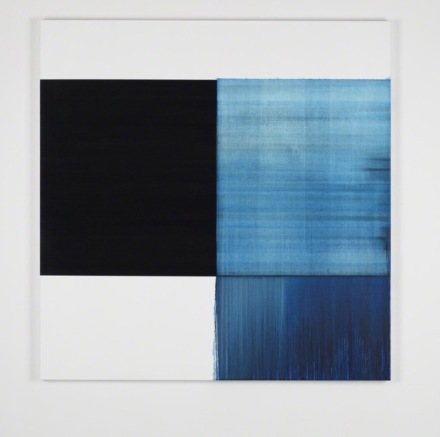 Callum Innes, Exposed Painting Phthalocyanine Blue (2018), via Sean Kelly