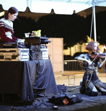 Eartheater performs outside LAABF, via Printed Matter