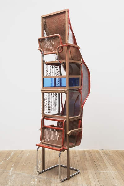 Jessi Reaves, Blue heart shelf (2019), via Art Observed