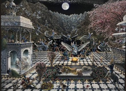 Raqib Shaw, As yet untitled (2018), via Art Observed