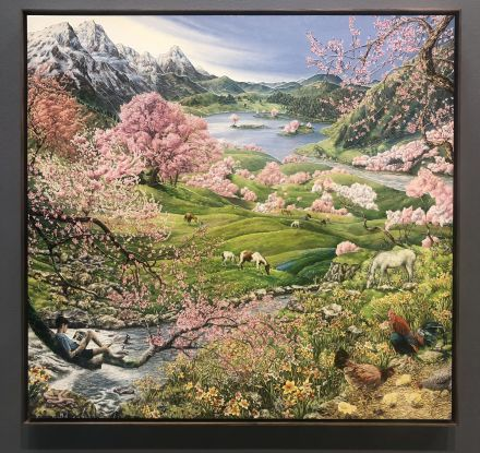 Raqib Shaw, Spring from the Four Seasons (2018), via Art Observed