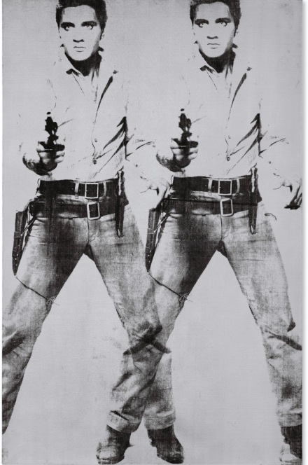 Andy Warhol, Double Elvis [Ferus Type] (1963), via Christie's