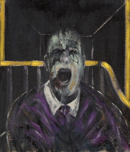Francis Bacon, Stzudy for a Head, (1952), final price 50,380,000, VIA Sotheby's