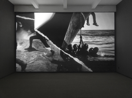 Robert Longo, Icarus Rising (detail) (2019), via Metro Pictures