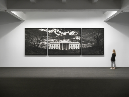 Robert Longo, Untitled (White House) (2019), via Metro Pictures