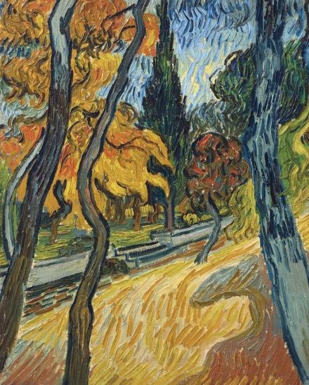Vincent Van Gogh, Arbres dans le jardin de l'asile (1889), via Christie's