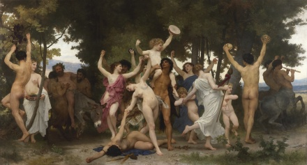William Bouguereau, La Jeunesse de Bacchus (1884), via Sotheby's