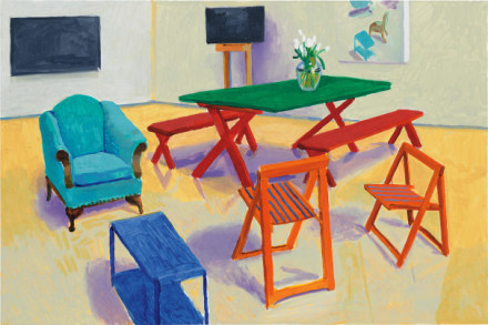 David Hockney, Studio Interior #2 (2014), Final Price £2,895,000, via Phillips
