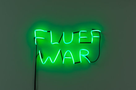 David Shrigley, FLUFF WAR (2019), via Anton Kern