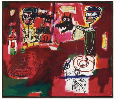 Jean-Michel Basquiat, Sabado por la Noche (Saturday Night) (1984), via Christie's