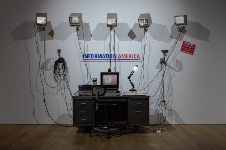 Julia Scher, Information America (1995), via Ortuzar Projects