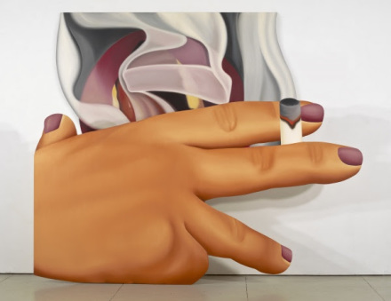 Tom Wesselmann, Smoker #23 (1976), via Almine Rech