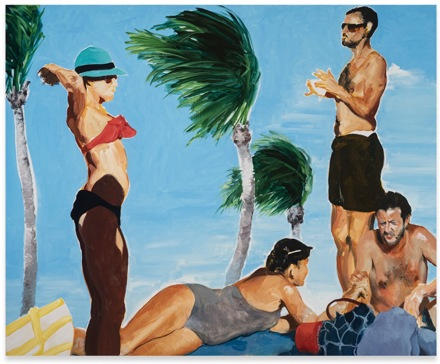 Eric Fischl, The Exchange (2018), via Sprüth Magers