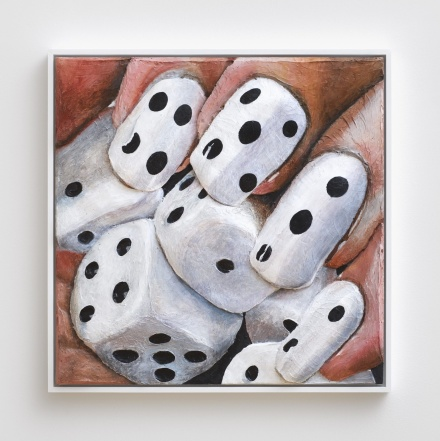 Gina Beavers, Dice Nails (2014), via MoMA PS1