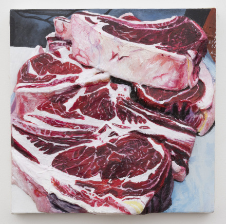 Gina Beavers, Local Pasteurized Beef (2014), via MoMA PS1