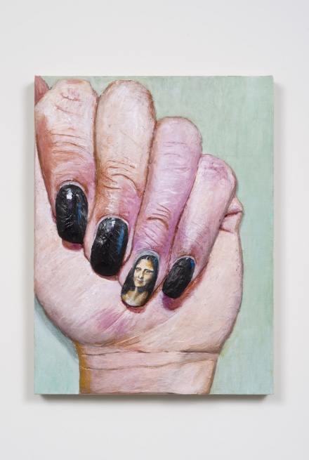 Gina Beavers, Mona Lisa Nail (2015), via MoMA PS1