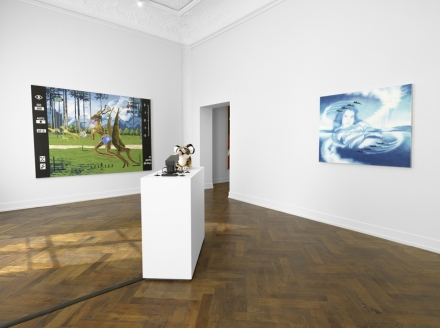 Jamian Juliano-Villani, Let's Kill Nicole (Installation View), via Massimo de Carlo