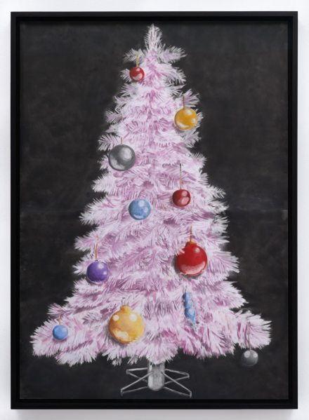 Andrew Sim, A pink Christmas tree (2019), via Karma