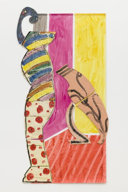 Betty Woodman, Lady and Leaning Vase (2011), via David Kordansky