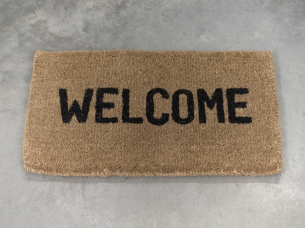 Ceal Floyer, Welcome (2011), via 303 Gallery