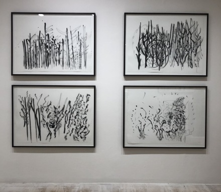 Simone Fattal, Works and Days (Installation View, via Art Observed