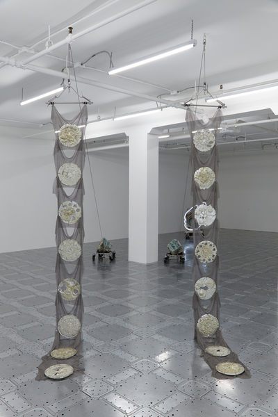 Elaine Cameron-Weir, strings that show the wind (Installation View), via JTT