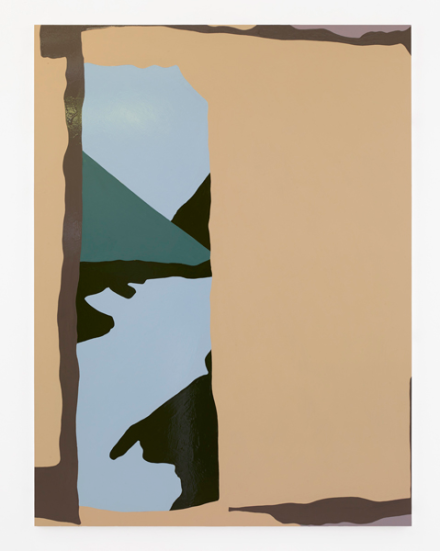Gary Hume, Blue Lake (2019), via Matthew Marks