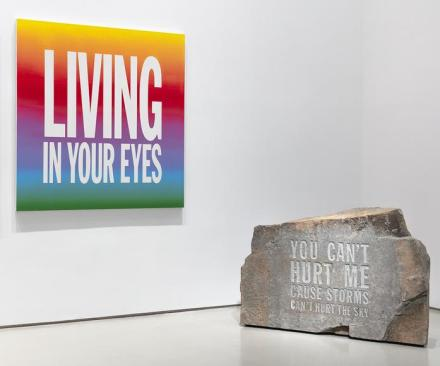 John Giorno, Do the Undone (Installation View), via Sperone Westwater