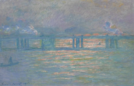 Claude Monet, Charing Cross Bridge (1903), via Sotheby's