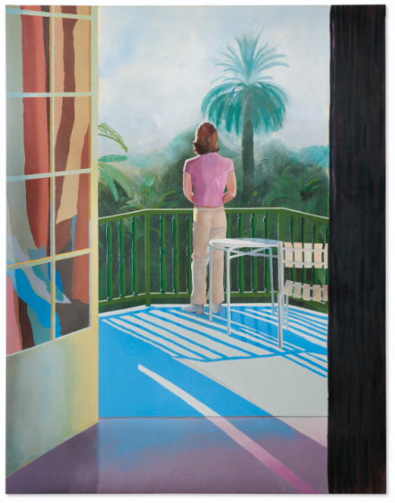 David Hockney, Sur La Terrasse (1971), via Christie's